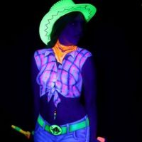 UV Bodypainting Cowgirl
