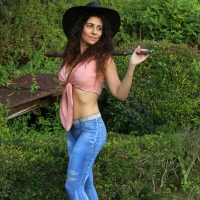 Bodypainting Cowgirl jeans