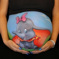 Pregnant Belly Painting Dumbo