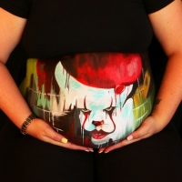 Pregnant Belly Painting Pennywise
