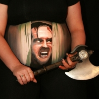 Pregnant Belly Painting The Shining
