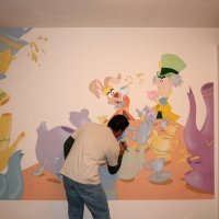 Alice in Wonderland Mural